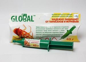 как использовать гель Глобал от тараканов