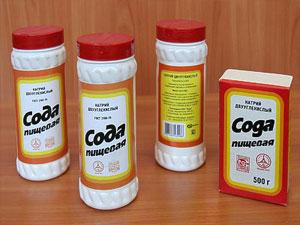 Очистка ковра с помощью питьевой соды